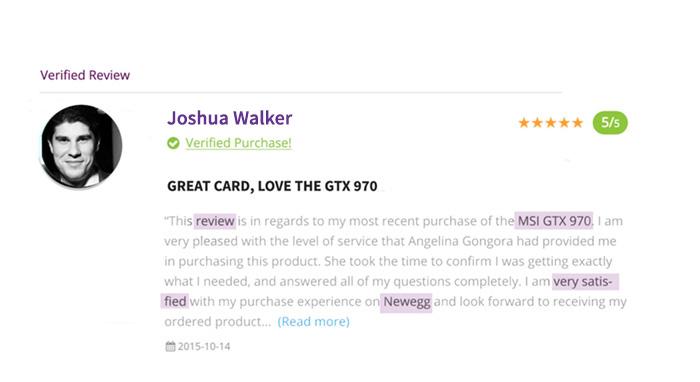 product reviews keyword ranking google